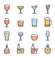 Alcohol Beverage Icon Bold Stroke with Color vector image vector image