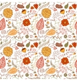 Autumn floral seamless background vector image vector image