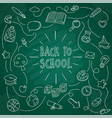 back school student material vector image