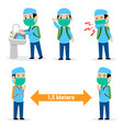 boy moslem student avoid flu disease spread vector image vector image