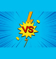 bright comic duel concept vector image vector image