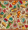 Cartoon summer time seamless pattern