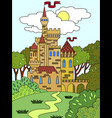 childs colored picture castle in the forest the vector image vector image