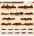 City skyline set canada silhouettes vector | Price: 1 Credit (USD $1)
