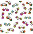 colorful sunglasses seamless pattern vector image vector image