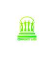 community logo vector image vector image