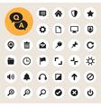 Computer menu icons set vector image vector image