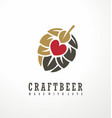 craft beer logo design layout vector image