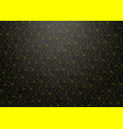 dark abstract background with yellow neon lines vector image vector image