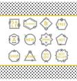 Decorative SALE icons design elements set vector image vector image