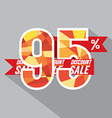 Discount 95 Percent Off vector image vector image