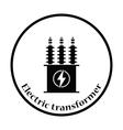 Electric transformer icon vector image vector image