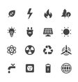 Energy and Ecology Icons vector image vector image