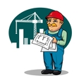 Engineer on construction site vector image