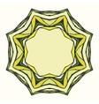 Ethnic round mandala ornamental frame vector image vector image