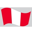 Flag of Peru waving on gray background vector image vector image