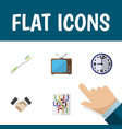 flat icon lifestyle set of watch router vector image vector image