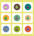 flat icons halloween set of well and ghost concept vector image vector image