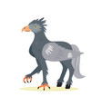 funny cute hippogriff in a flat style vector image vector image