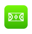 futsal or indoor soccer field icon digital green vector image