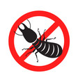 graphic anti termite vector image