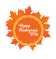 happy thanksgiving day label vector image vector image