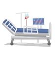 Hospital bed with medical equipments vector image