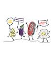 keto diet hand drawn cartoon cute vector image vector image