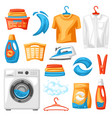 laundry service set professional items vector image