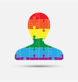lgbt puzzle piece silhouette man lgbt vector image vector image