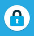 lock icon colored symbol premium quality isolated vector image