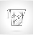 measuring cup flat line icon vector image