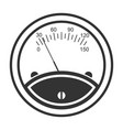 meter icon speedometer instrument for indicating vector image vector image