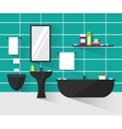 Modern bathroom interior vector image