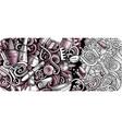 nail salon hand drawn doodle banner cartoon vector image vector image