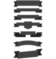old ribbon banner black vector image