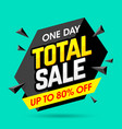 one day total sale banner poster background vector image vector image