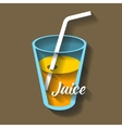 paper cut juice vector image