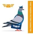 Pigeon postman character vector image