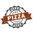 pizza stamp sign seal vector image