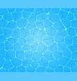 pure blue water in pool water background vector image vector image