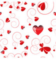 red love design white background vector image vector image