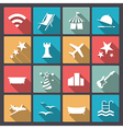 rest and entertainment icons in flat design vector image