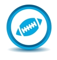 Rugby icon blue 3D vector image vector image