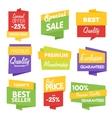Sale sticker collection on white background vector image