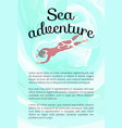 sea adventure person wearing diving equipment vector image