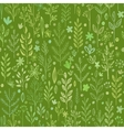 Seamless hands drawn spring pattern with grass and vector image