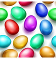 seamless pattern colored easter eggs vector image vector image