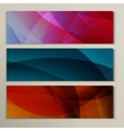 Set abstract backgrounds blue green and yellow vector image vector image