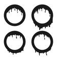 set black liquid round frames vector image vector image
